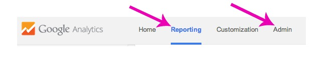 Using the Google Analytics Menu