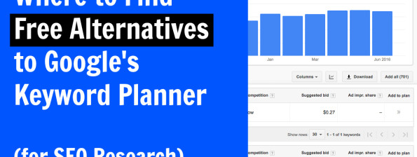 Where to find free alternatives to Google's Keyword Planner (for SEO research)